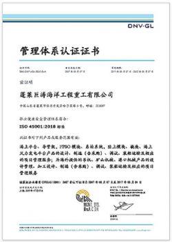 巨涛职业健康安全管理体系认证